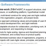 Agile Frameworks: Does Anyone Know What A Framework Is?