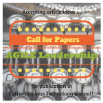 [Call for Papers] Agile Leadership: The Foundation for Organizational Agility